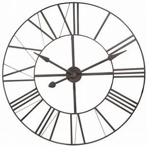 Horloge En Metal : grande horloge maisons du monde ~ Teatrodelosmanantiales.com Idées de Décoration