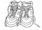 Coloring Shoes Shoe Pages Clipart Tennis Pair Running Outline Printable Dance Gym Class Nike Drawing Clip Boots Cliparts Colouring Heel sketch template