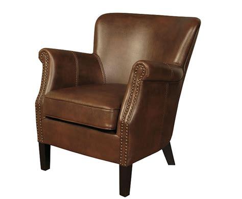 Stortford Tan Faux Leather Armchair