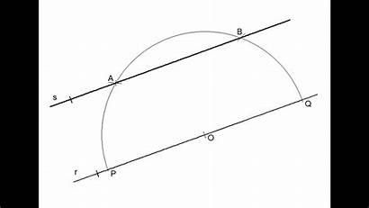 Parallel Line Draw Through Point Given