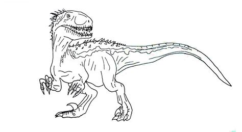 jurassic world coloring pages indoraptor