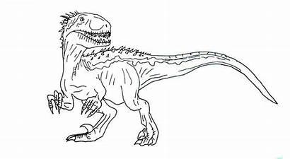 Jurassic Indoraptor Coloring Rex Indominus Printable Colorare