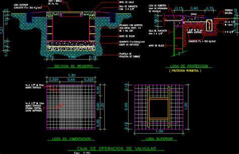 sewer valve chamber box dwg block  autocad designscad