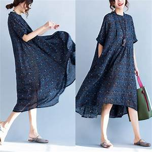 plaid stand collar short sleeve loose hem women dresses With robes amples