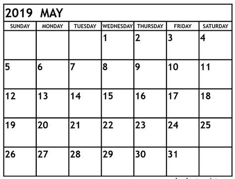 calendar editable printable blank template