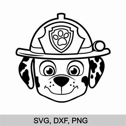 Paw Patrol Marshall Svg Face Clipart Silhouette