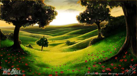 peaceful meadow  sunset  jess  dragoon  newgrounds