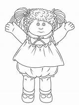 Coloring Cabbage Patch Pages Doll Colouring Printable Dolls Drawing Bing Sheet Rag Adult Sheets Cartoon Children Paper sketch template