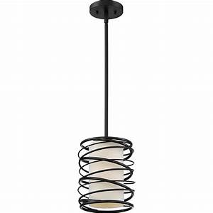 Quoizel spl k spiral modern mystic black mini hanging