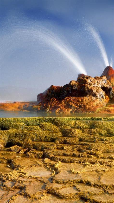 bing yellowstone national park geysers nature wallpaper