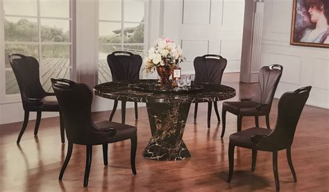 7 Piece Vogue Marble Round Dining Set