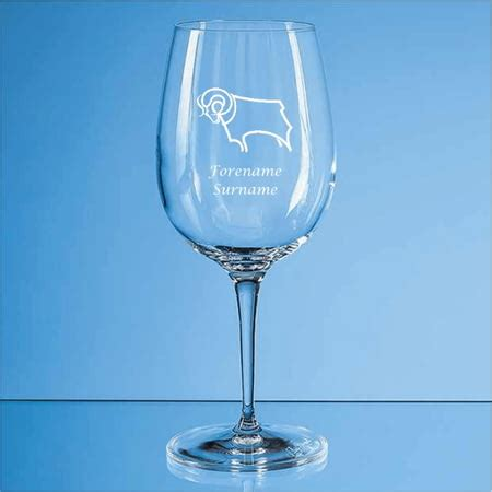 Personalised Derby County FC Crest 480ml Wine Glass from ...