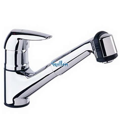 grohe eurodisc kitchen faucet grohe 33330000 eurodisc low profile pull out with dual spray kitchen faucet in chrome