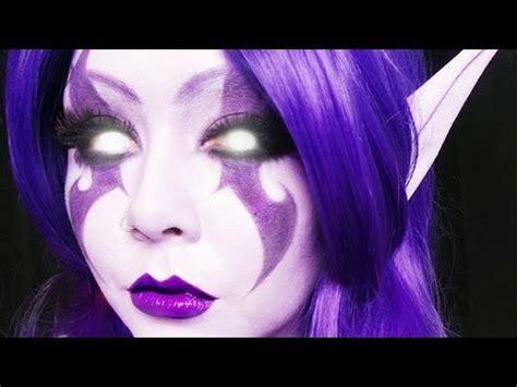 night elf world  warcraft makeup tutorial pzc youtube