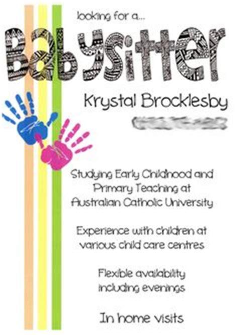 1000 ideas about babysitting flyers on