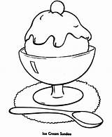 Ice Cream Coloring Sundae Pages Colouring Sandwich Chocolate Template Sheet Coloringsky sketch template