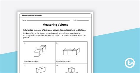 measuring volume worksheet teaching resource teach starter