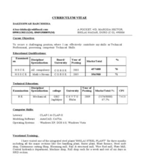Fresher Mechanical Engineer Resume by 301 Moved Permanently