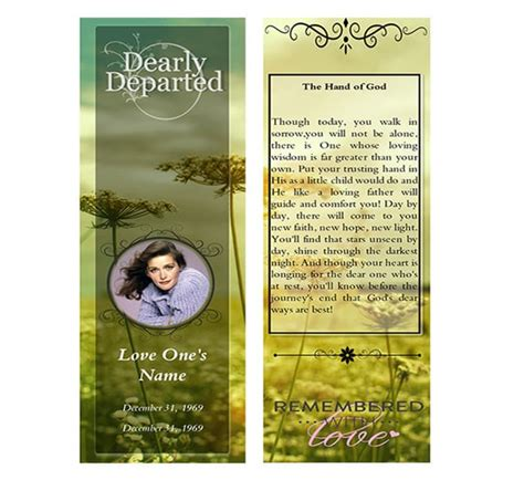 yellow flower funeral bookmarks funeral bookmark