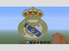 Pixel Art en minecraft Escudo del Real Madrid HD YouTube