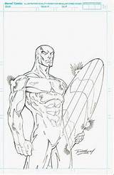 Coloring Gauntlet Infinity Template Surfer Silver Sketch Galactus Sheets sketch template