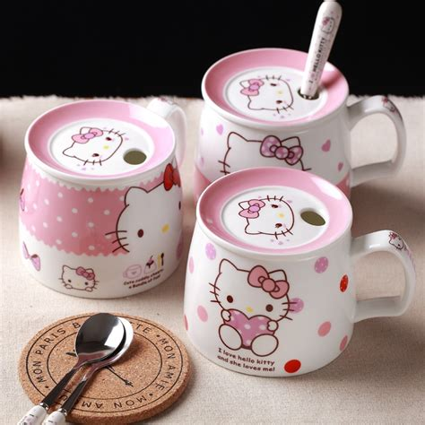 360ml new hello kitty cup for ladies birthday gift of stainless steel drill insert drill and stick drill thermo coffee mug. Aliexpress.com : Buy Hello Kitty Coffee Milk Mugs Cup with Lid Spoon Cute Cartoon Mug Morning ...