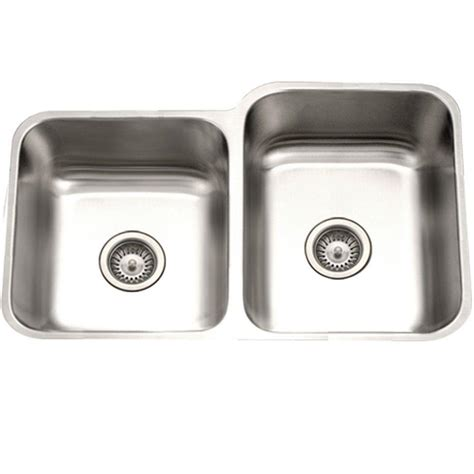 60 40 stainless steel sink houzer eston series undermount stainless steel 31 in 40