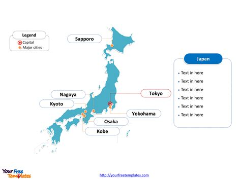japan editable map  powerpoint templates