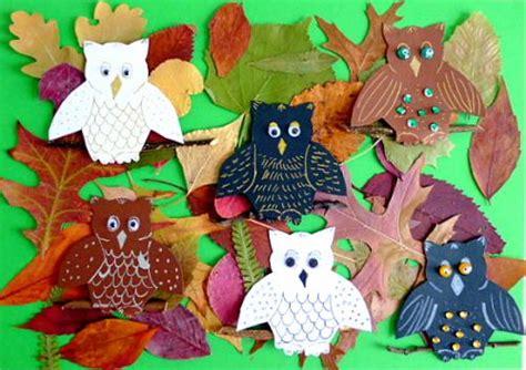 Herbst Basteln Grundschule Eulen Im Wald Natur Basteln Meine Enkel