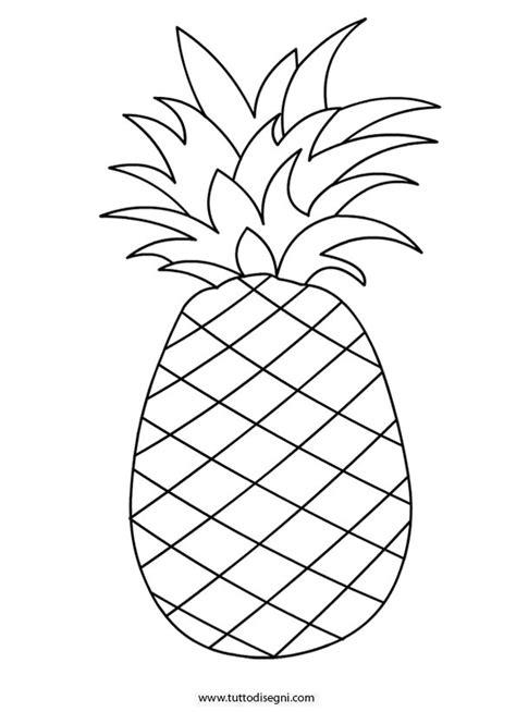 ananas disegno da colorare tuttodisegnicom