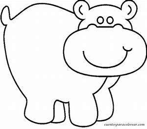 Dibujos para colorear hipopótamo