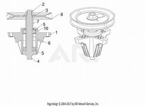 Troy Bilt 17arcacs011 Mustang Xp 42  2017  Parts Diagram For Spindle