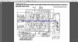 Hitachi Zaxis 200-240-270-330-3 Circuit Wiring Diagram Manual