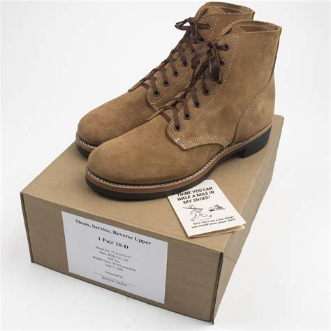 navy insignia wwii type iii roughout boots made in usa atf