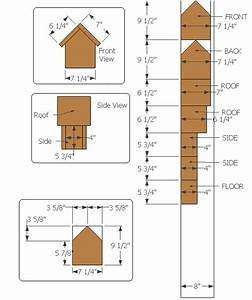 Birdhouse measurements, build it yourself!