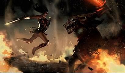 Wonder Woman Ares Wallpapers Fan Dc Artstation