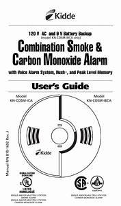 Kidde Smoke Carbon Monoxide Alarm Manual Kn Cosm Ibca