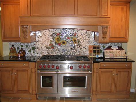 custom kitchen backsplash custom painted mosaic backsplash traditional