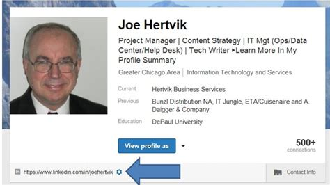 How To Put Your Linkedin Profile On Your Resume by Creating A Linkedin Profile Url That Fits On A Business Cardjoe Hertvik Tech Machinist