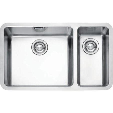 undermount kitchen sinks uk franke kbx 160 45 20 kubus 1 5 bowl undermount stainless 6597