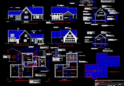 american type house dwg elevation  autocad designs cad