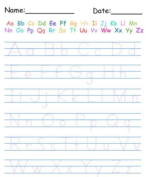 alphabet practice worksheets  print activity shelter