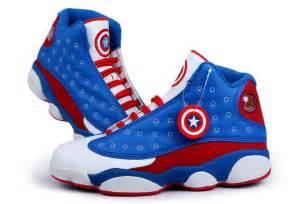 Nike Light Blue Shoes by Air Jordan 13 Captain American Custom Buy Cheap Sale