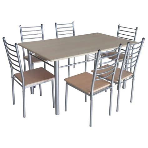 table de cuisine chaise table de cuisine salle à manger 6 chaises ella achat