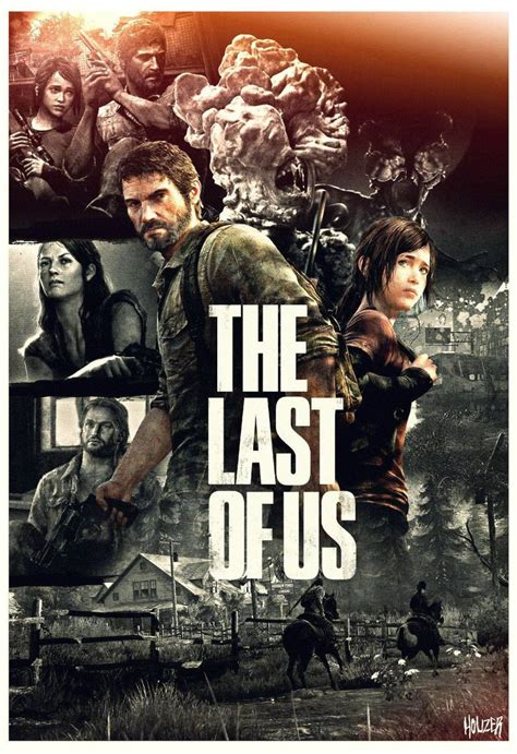 last game poster games zombie posters joel ellie survival horror adventure ps4 ps3 gaming play action playstation xbox x35 should