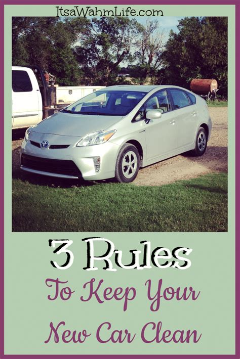 3 Rules To Keep Your New Car Clean  Its A Wahm Life