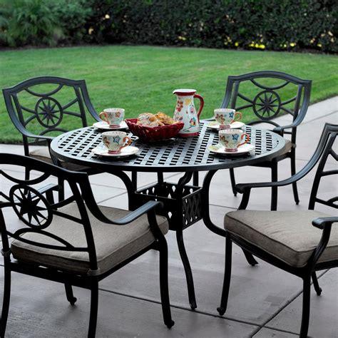 patio table set darlee ten 5 cast aluminum patio dining set