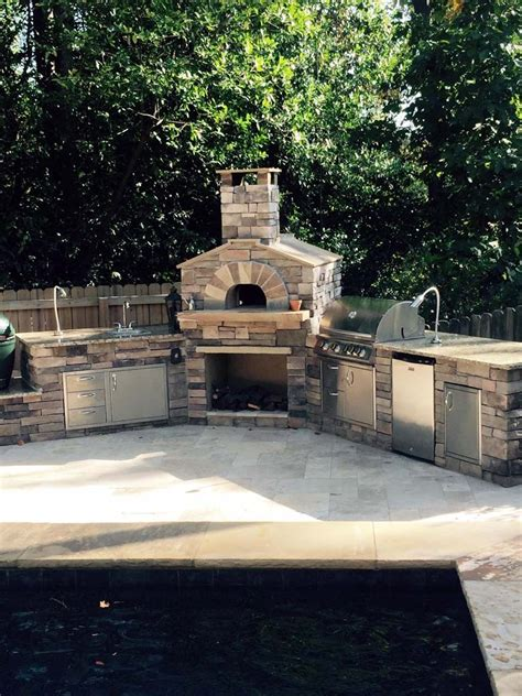 outdoor brick oven kit wood burning pizza ovens grills