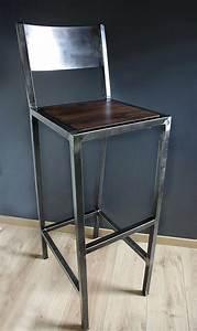 Tabouret De Bar Fer : tabourets de bar design industriel fer et bois ~ Dallasstarsshop.com Idées de Décoration