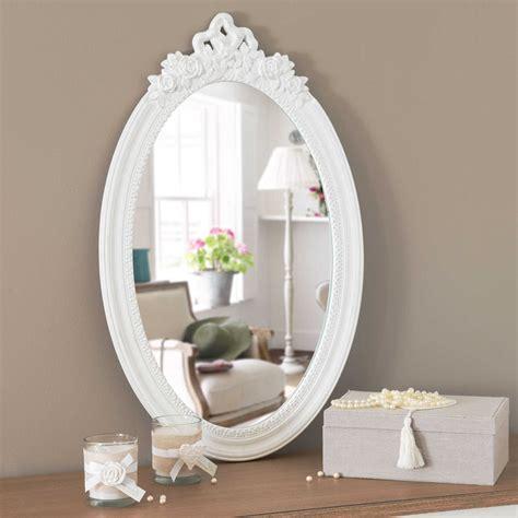 la chambre ovale miroir blanc h 65 cm romane maisons du monde